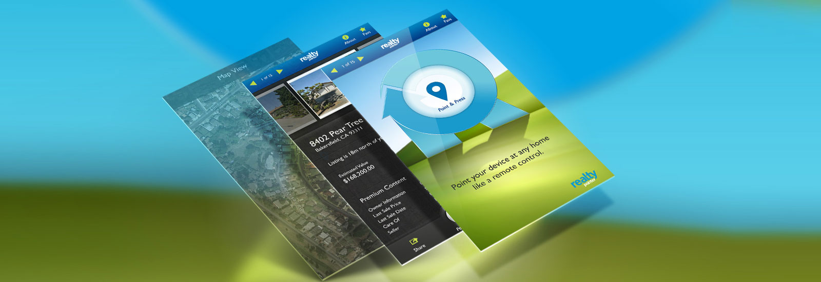 Realty Pointer High Quality Apps for iPhone | iPad | Android | UI